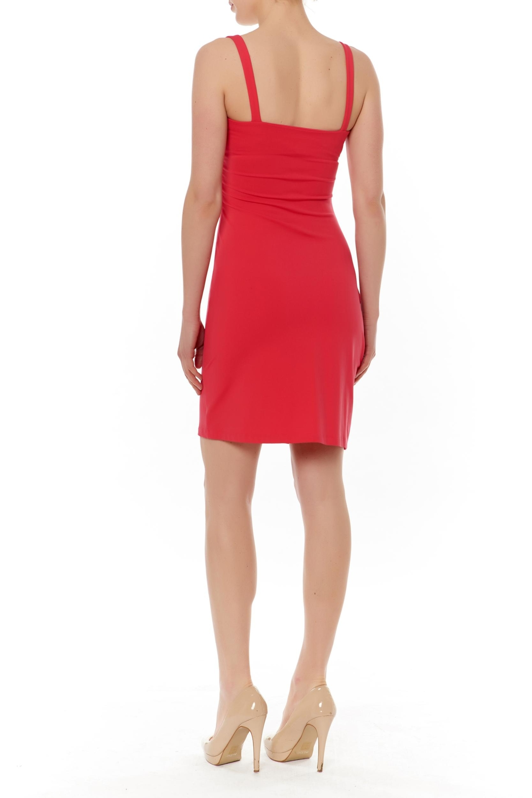 Susana Monaco Gather Tank Dress - Front Full Image