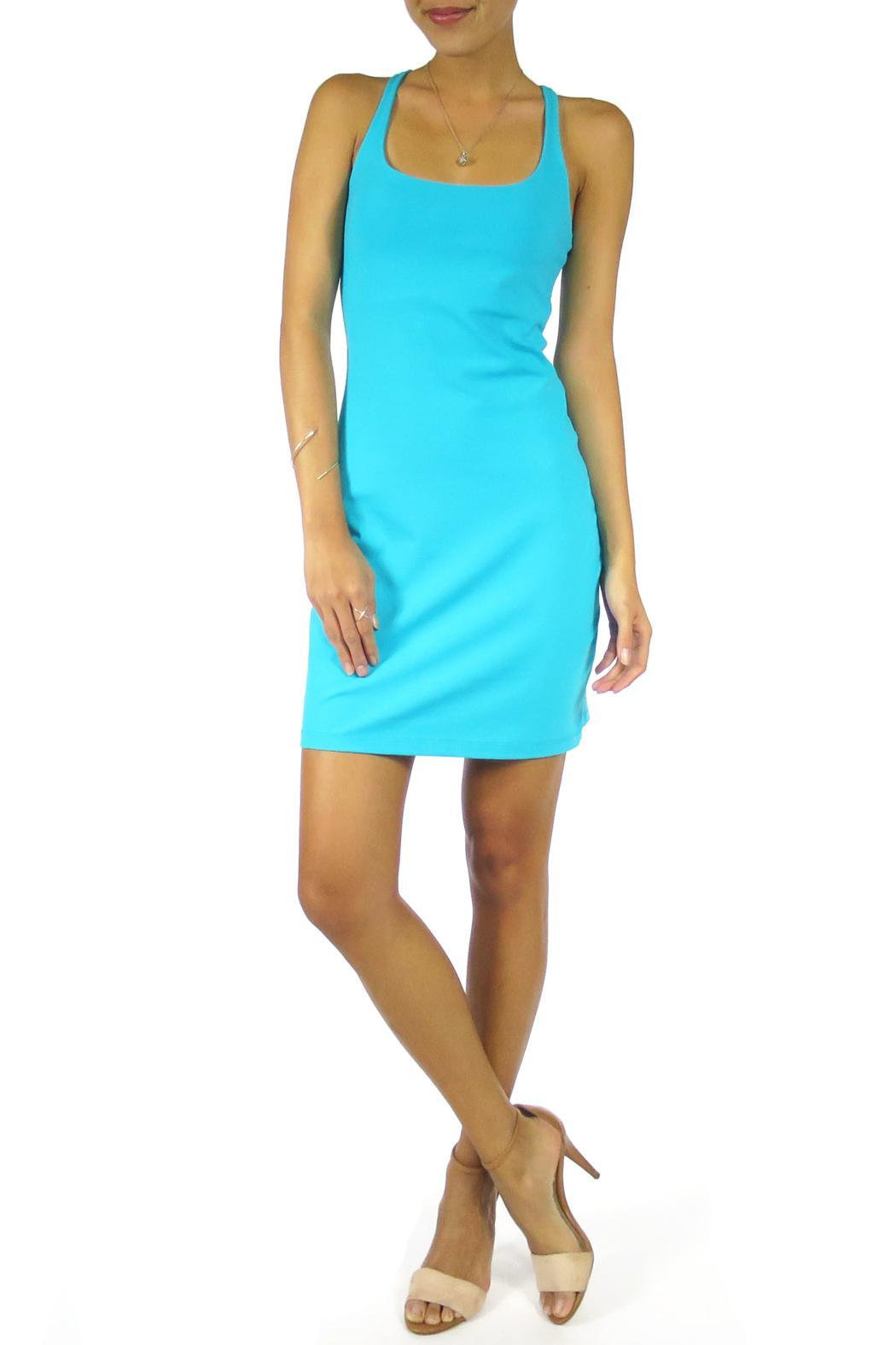 Susana Monaco Racer Mini Dress - Front Cropped Image