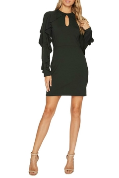 Susana Monaco Ruffle-Sleeve Keyhole Dress - Product List Image