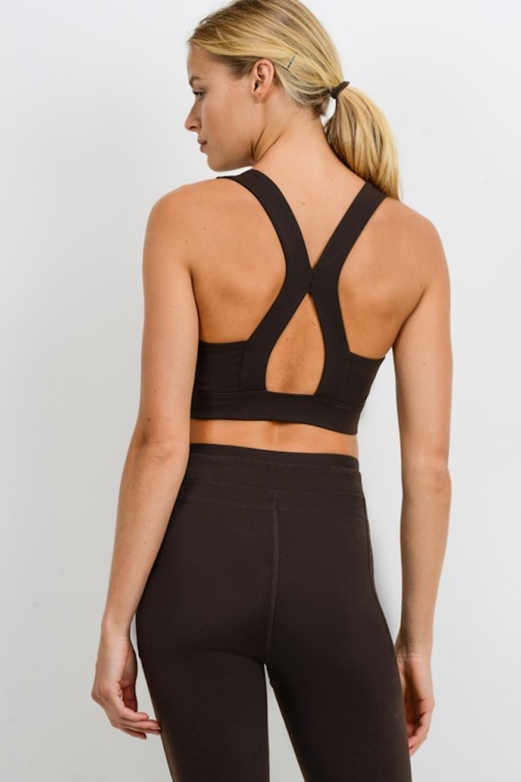 Mono B Suspended X Racerback Sports Bra - Front Cropped Image
