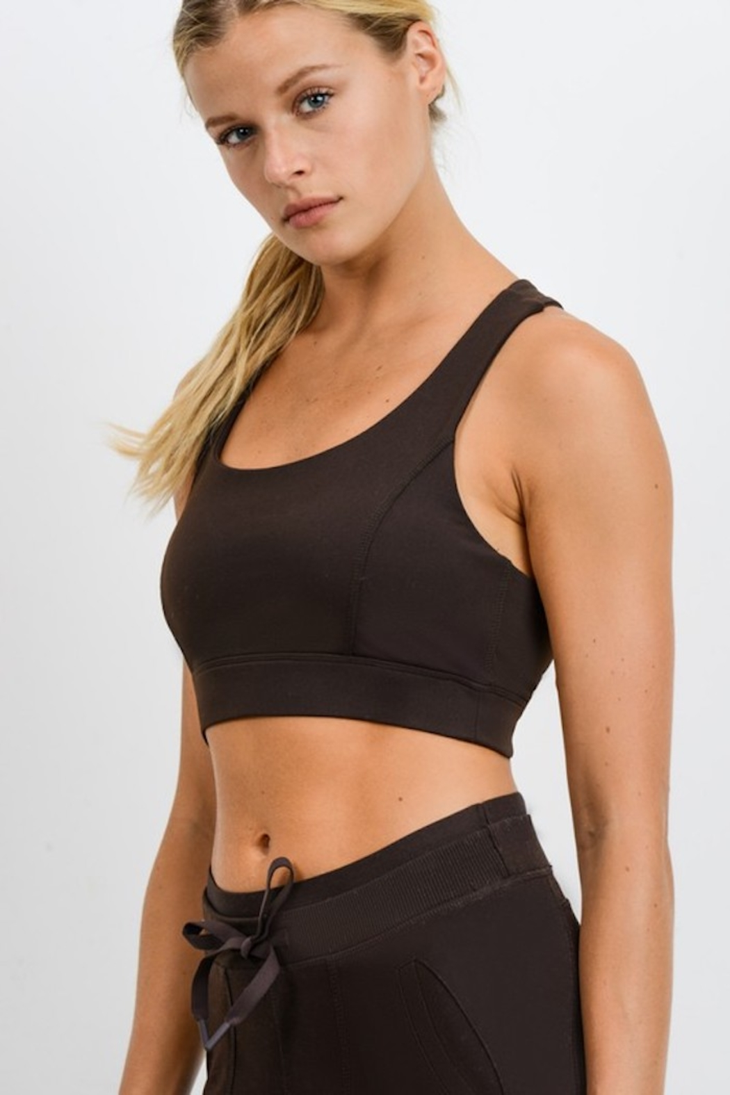 Mono B Suspended X Racerback Sports Bra - Back Cropped Image