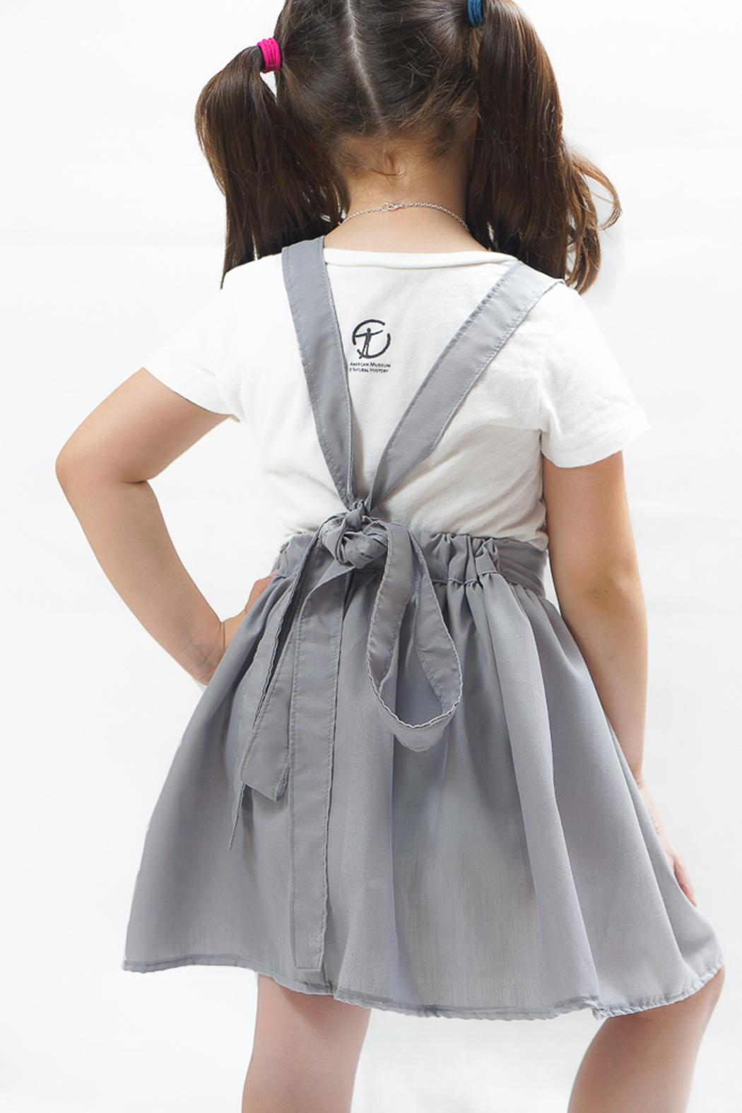 PPoT Kids Suspender Skirt Grey - Front Full Image