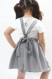 PPoT Kids Suspender Skirt Grey - Front full body