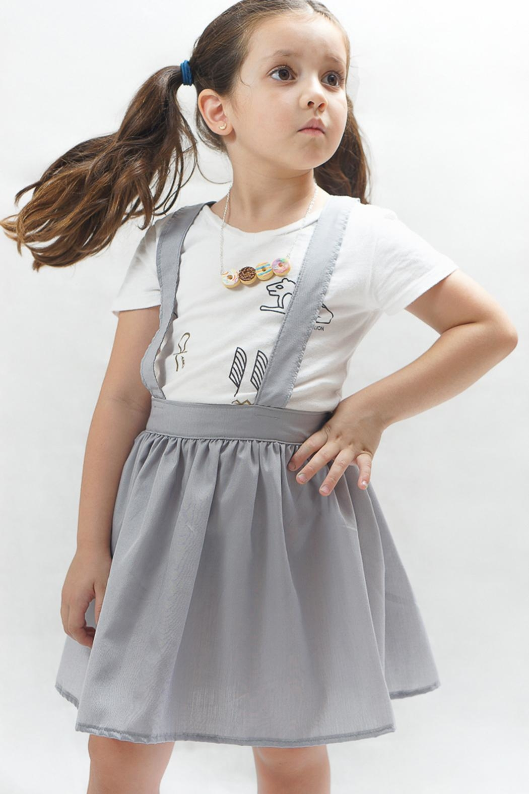 PPoT Kids Suspender Skirt Grey - Main Image