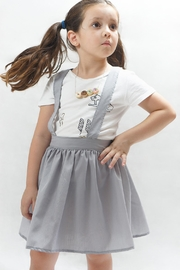 PPoT Kids Suspender Skirt Grey - Front cropped
