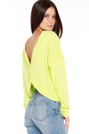 Bobi Los Angeles Sustainable Reversible Twist Top - Front cropped