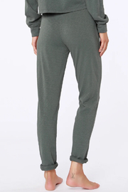 Bobi Sustainable Terry Cuffed Pant - Back cropped