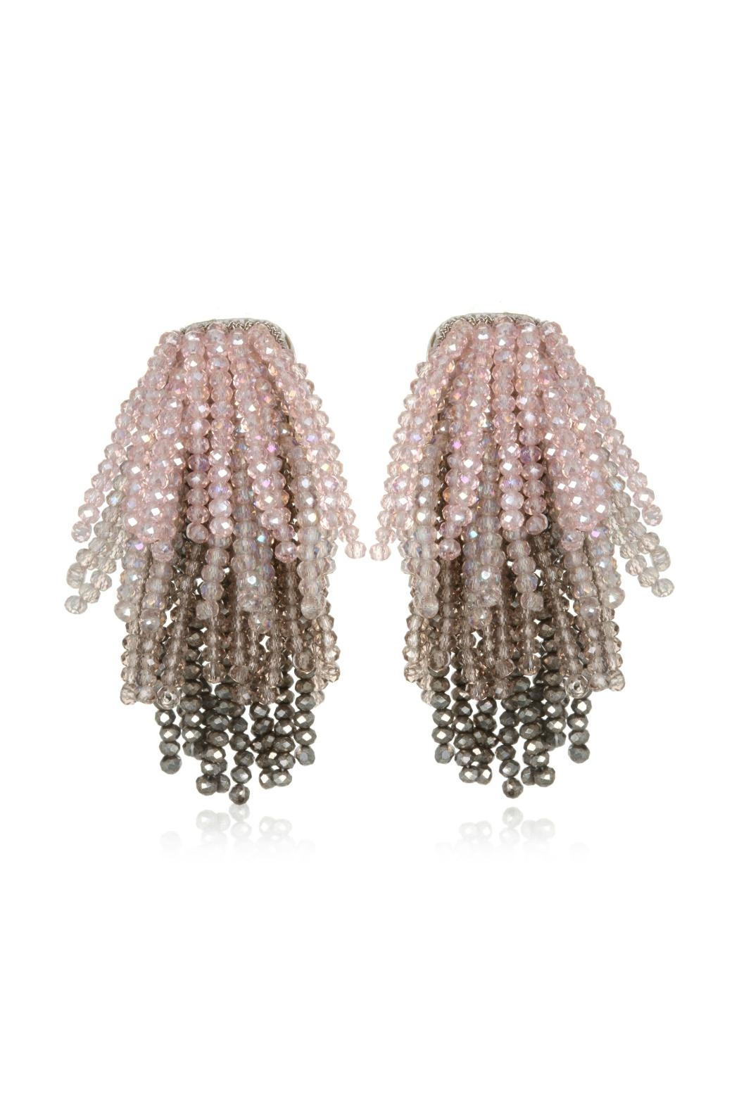 Suzanna Dai Crystal Fountain Earring - Front Cropped Image