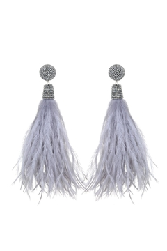 Suzanna Dai Feather Bead Earrings - Alternate List Image