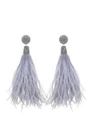 Suzanna Dai Feather Bead Earrings - Product Mini Image