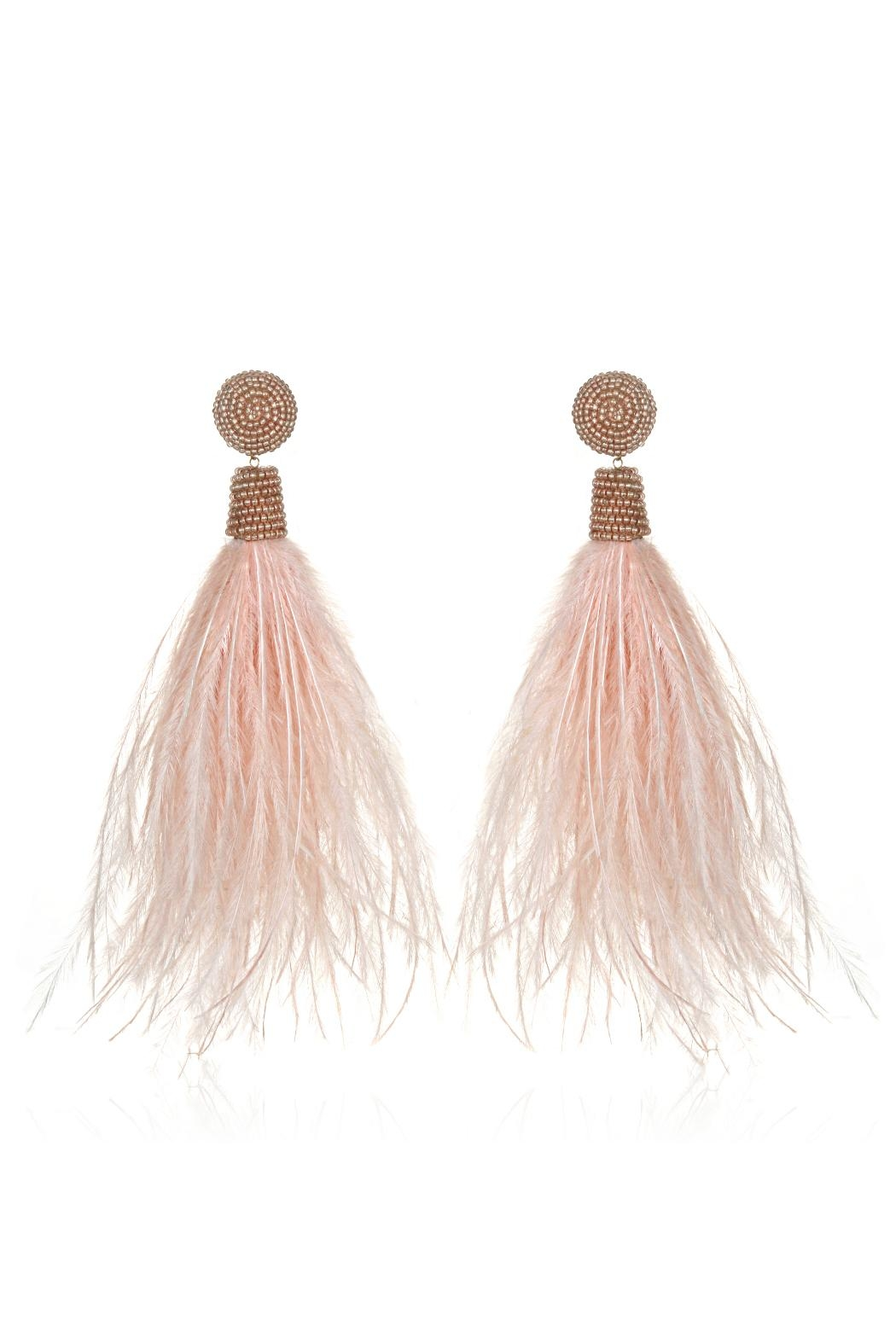 Suzanna Dai Feather Bead Earrings - Front Cropped Image