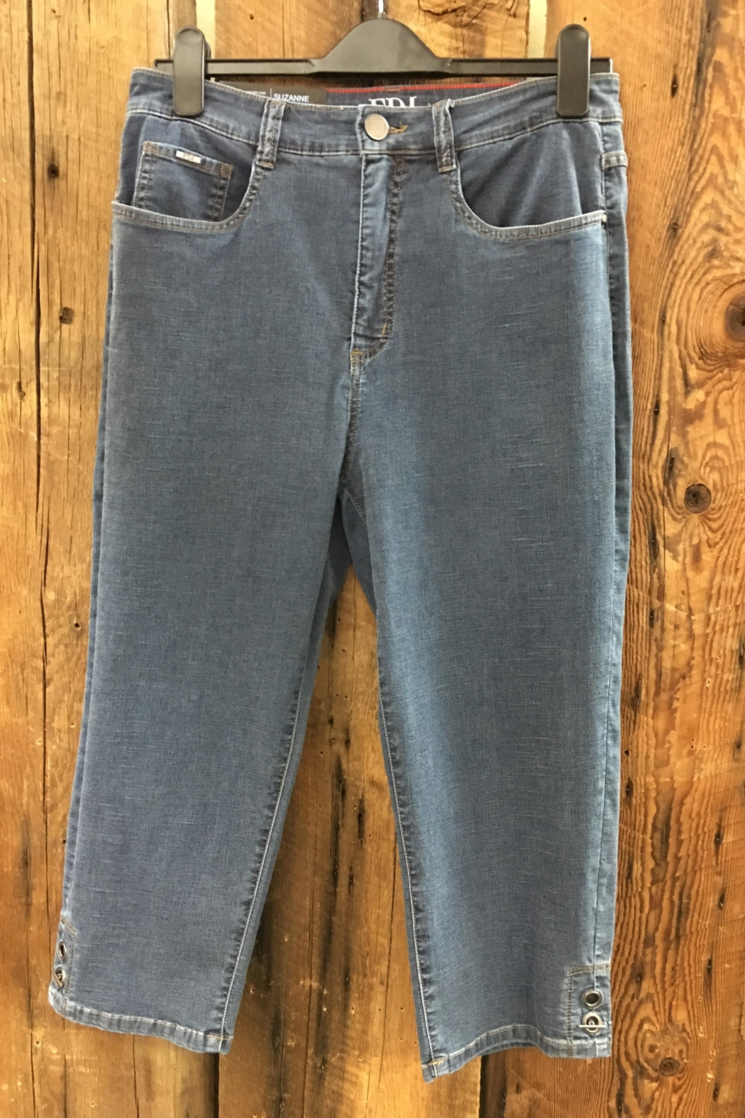 FDJ French Dressing Suzanne Denim Capri - Front Cropped Image