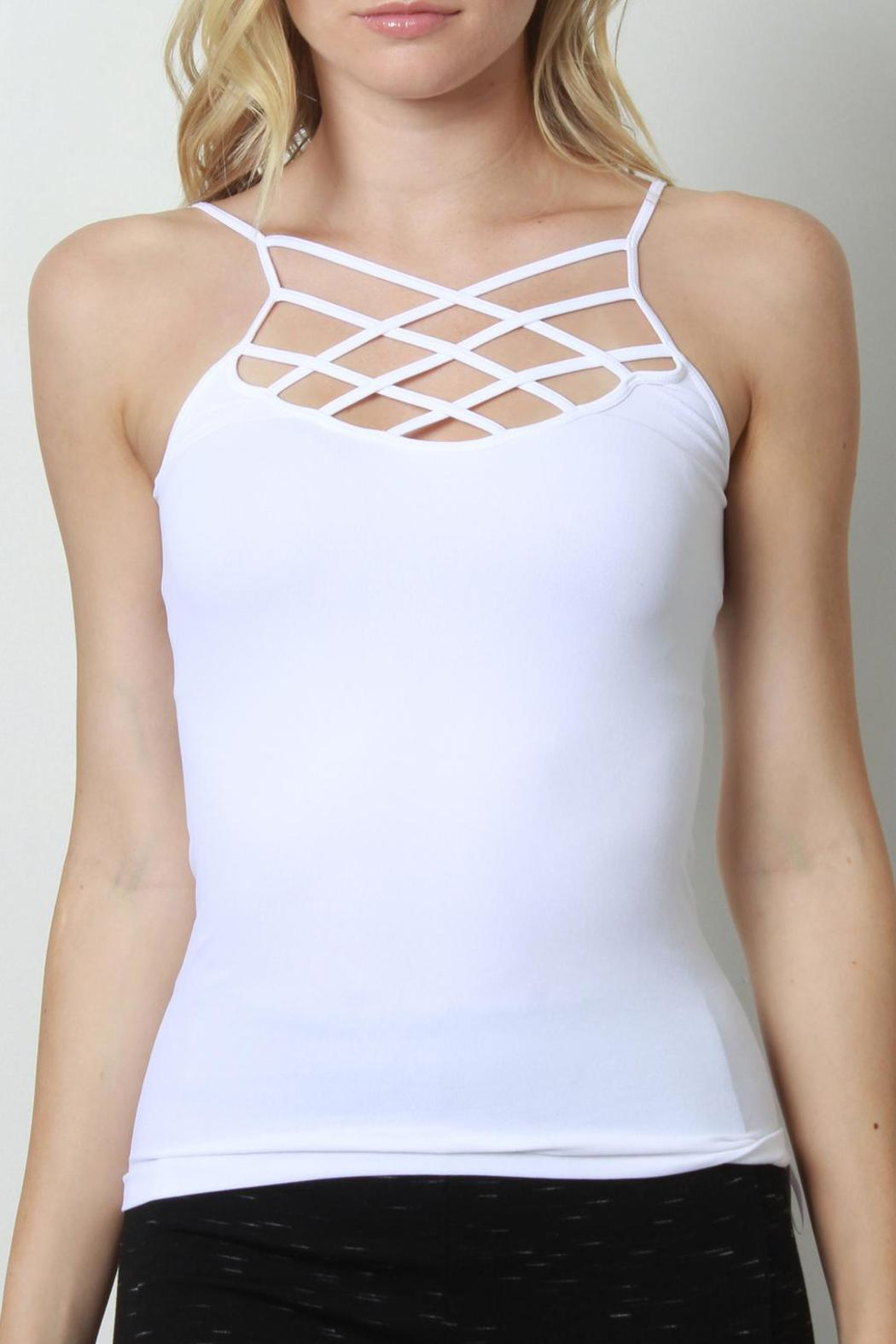Suzette Collection Strappy Cage Camisole - Front Cropped Image