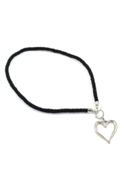 Suzie Blue Black Heart Necklace - Product Mini Image
