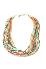 Suzie Blue Colourful Short Necklace - Product Mini Image