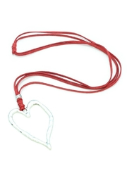 Suzie Blue Heart Charm Necklace - Front cropped