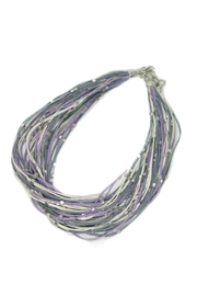 Suzie Blue Purple Strand Necklace - Product Mini Image