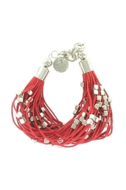 Suzie Blue Red Strand Bracelet - Product Mini Image