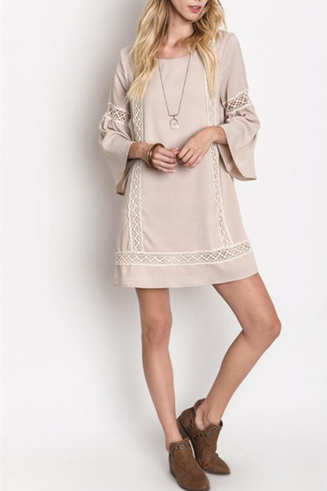 bcb860e9089f SV 3 4 Bell Sleeve Dress from Miami by Secret Vanity — Shoptiques