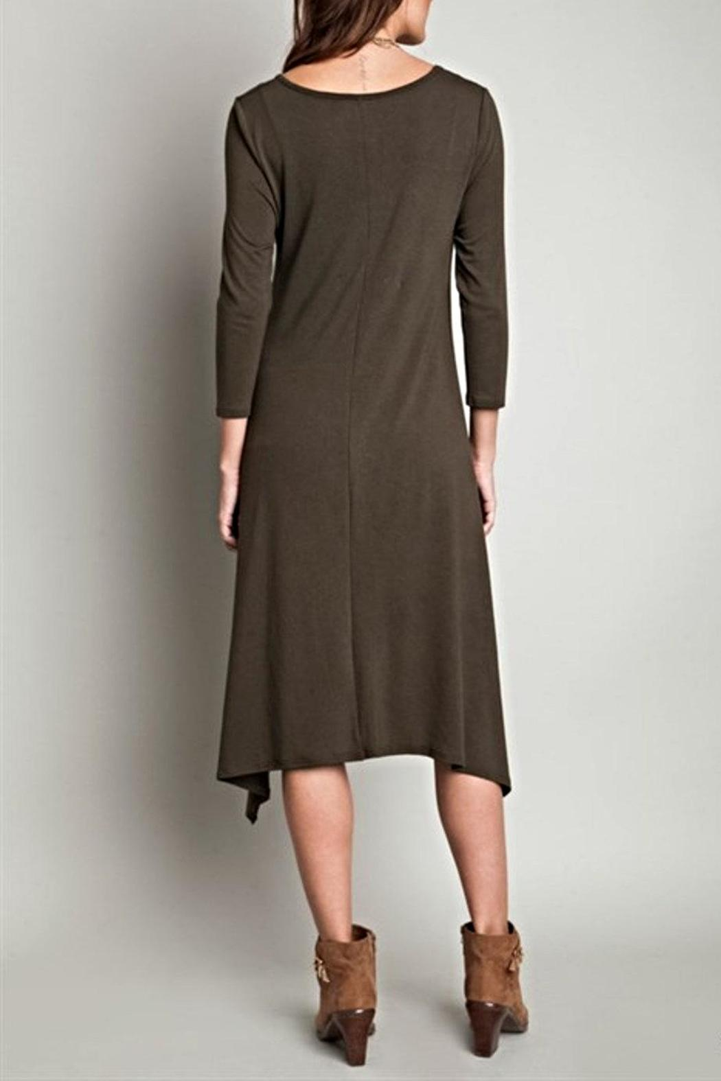 SV Hi Low Knit Dress - Side Cropped Image