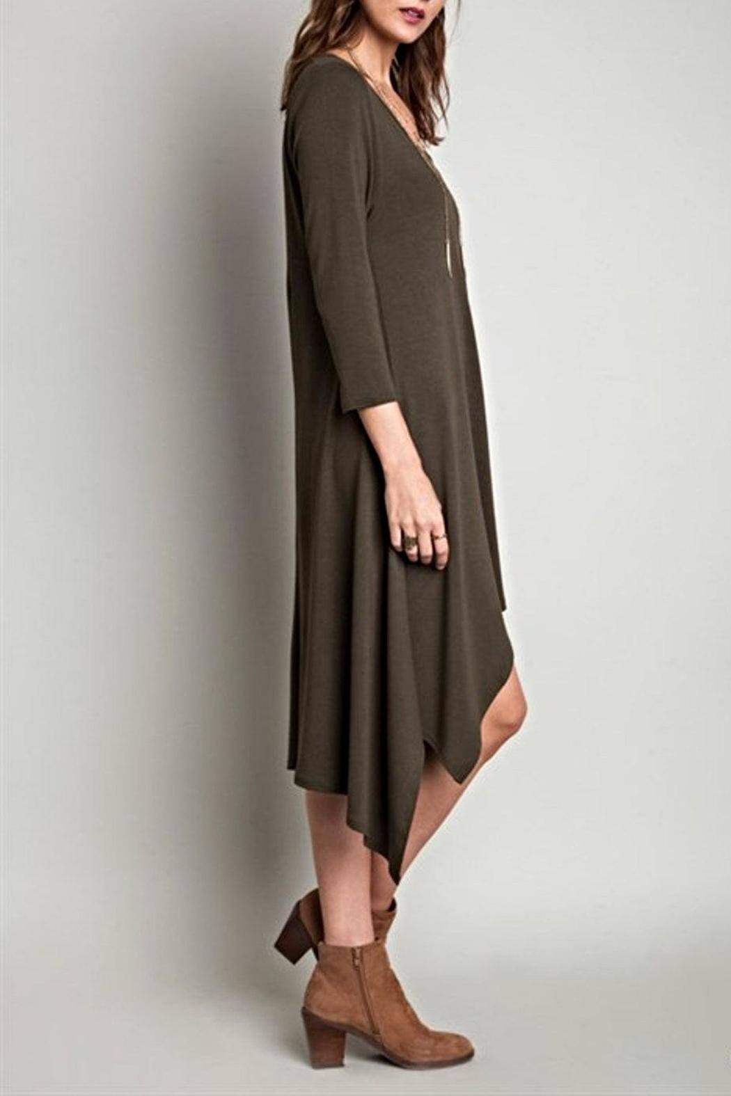SV Hi Low Knit Dress - Front Full Image