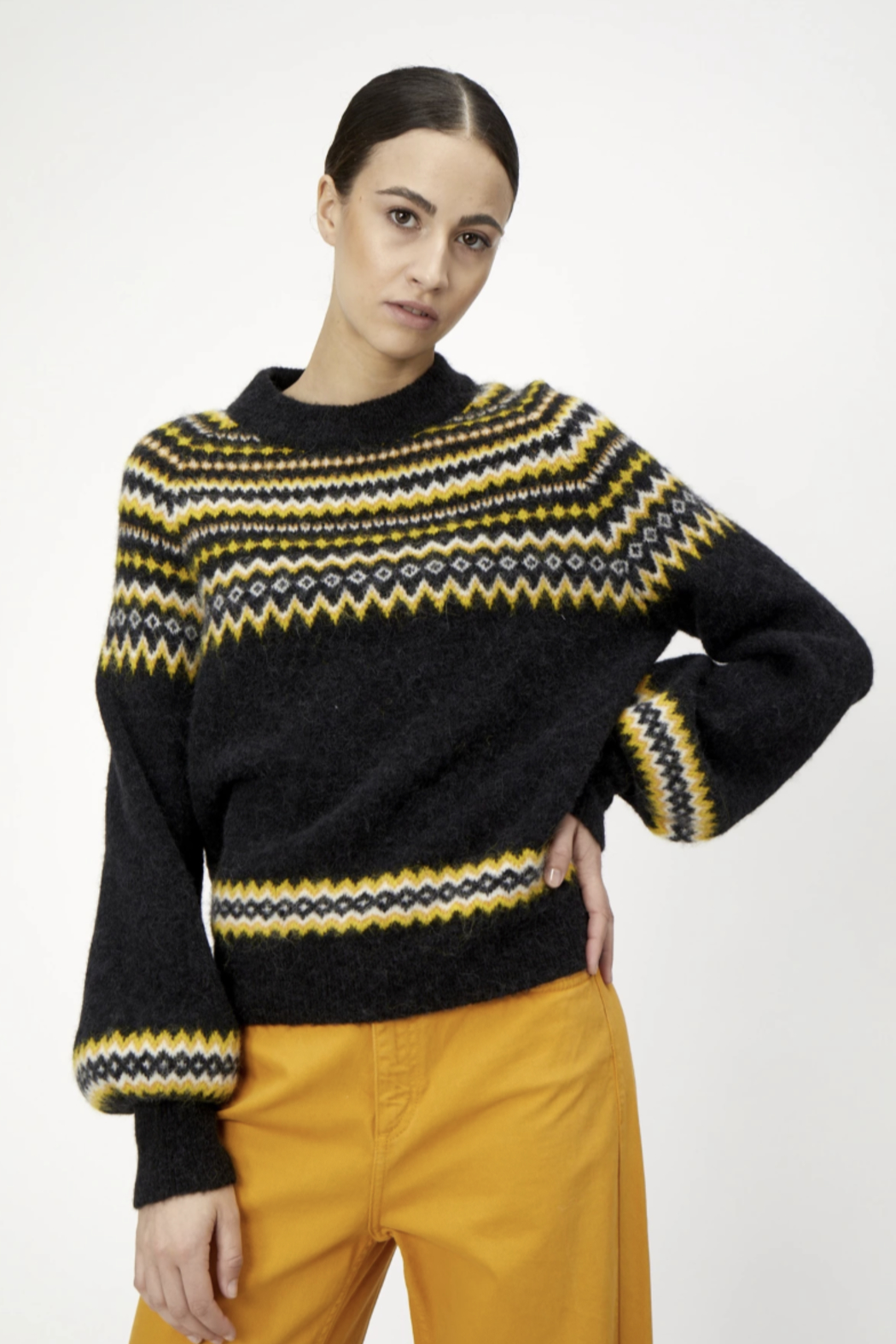 Just Female Svan Knit Sweater - Front Cropped Image