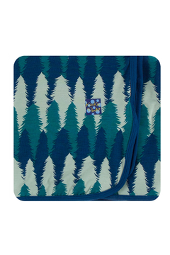 Kickee Pants Swaddle Blanket - Navy Forestry - Alternate List Image
