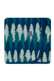 Kickee Pants Swaddle Blanket - Navy Forestry - Product Mini Image