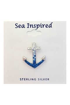 Soap and Water Newport Swarovski Anchor Necklace - Product List Image