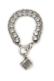 French Kande Swarovski and chain bracelet - Front cropped
