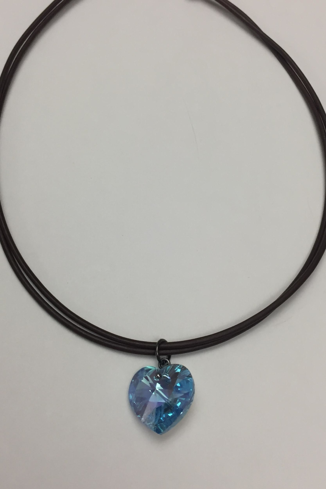 Swarovski Crystal Heart Necklace - Front Cropped Image