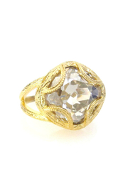Jessica Elliot Swarovski Cushion Cut Adj. Ring - Product Mini Image