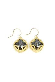 Jessica Elliot Swarovski Cushion Cut Drop Earrings - Product Mini Image