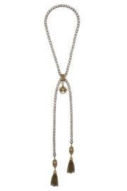 French Kande Swarovski lariat necklace with Immaculate Heart pendant - Product Mini Image