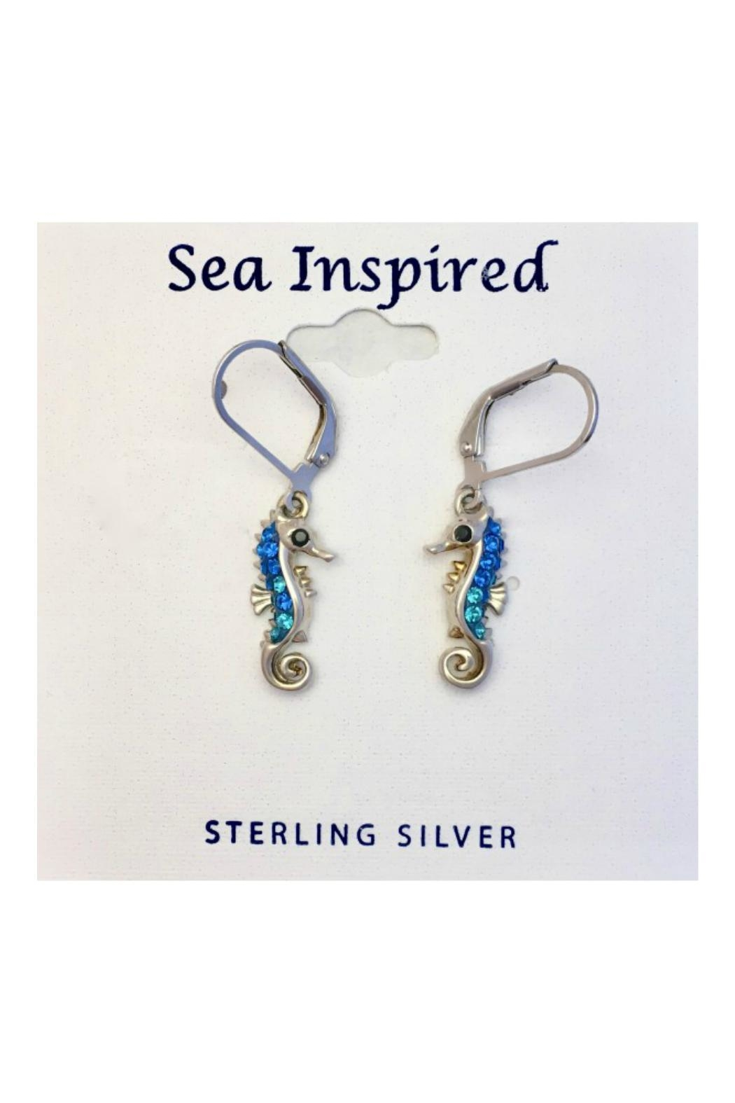Soap and Water Newport Swarovski Seahorse Earrings - Front Cropped Image