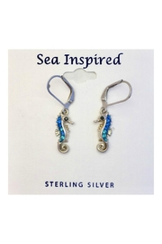 Soap and Water Newport Swarovski Seahorse Earrings - Front cropped
