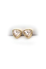 Jessica Elliot Swarovski Triangle Earrings - Front cropped