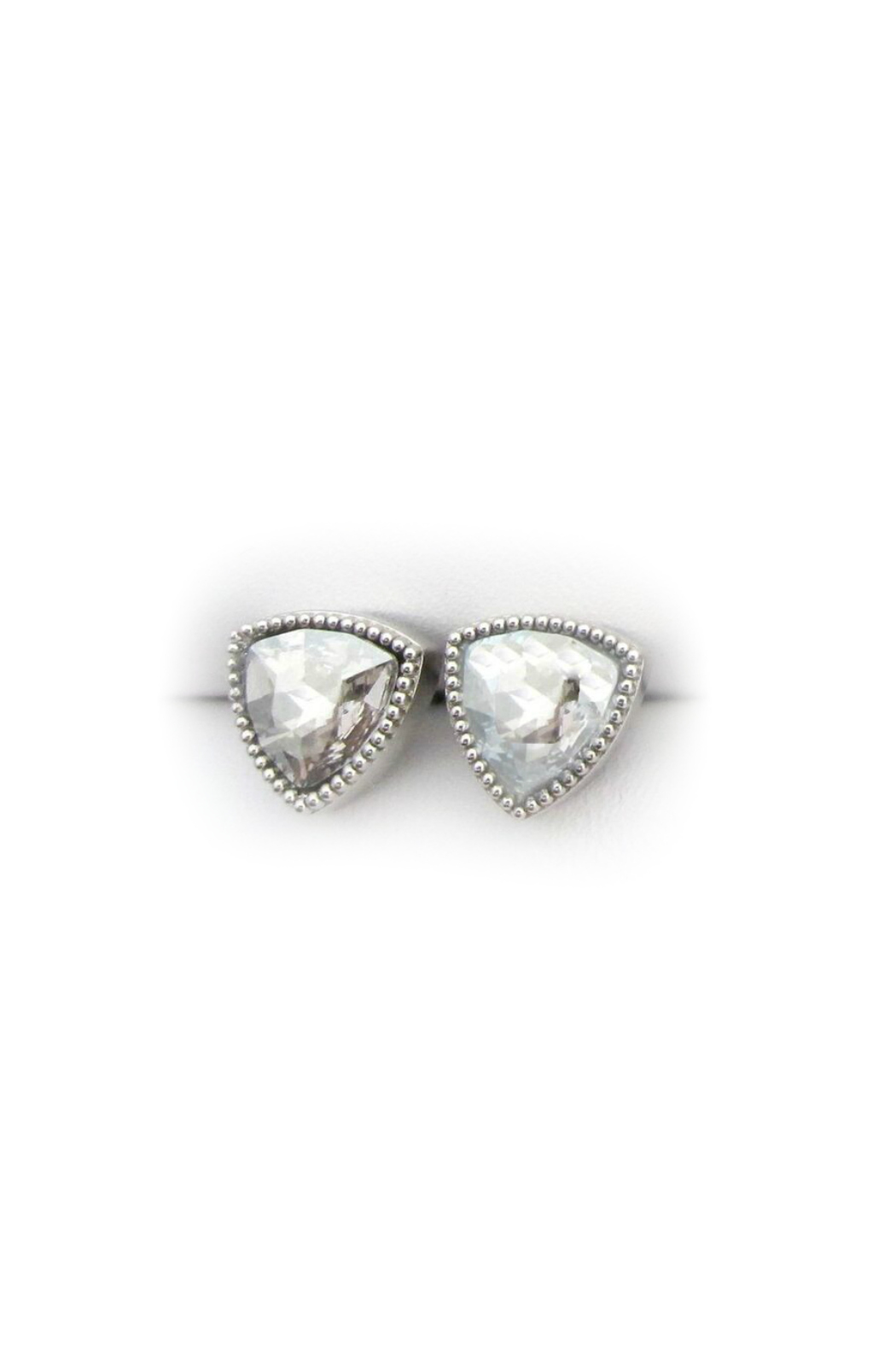 Jessica Elliot Swarovski Triangle Earrings - Front Cropped Image