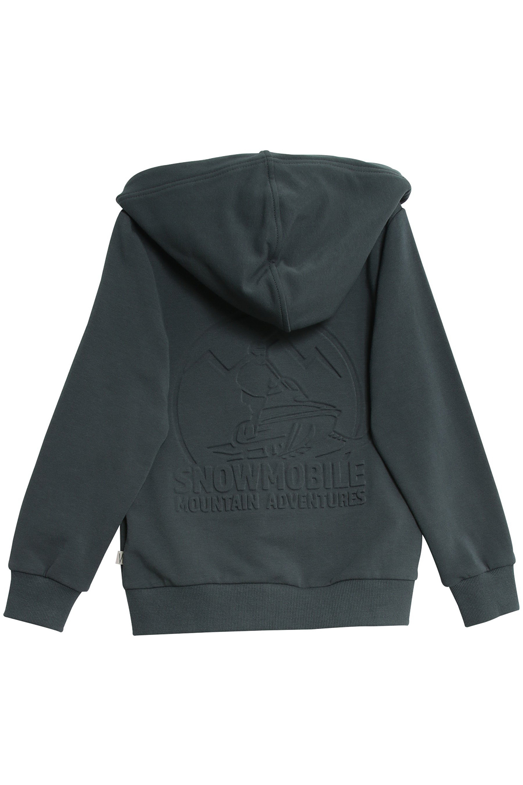 Wheat Sweat Cardigan Embossed Snowmobile - Front Full Image