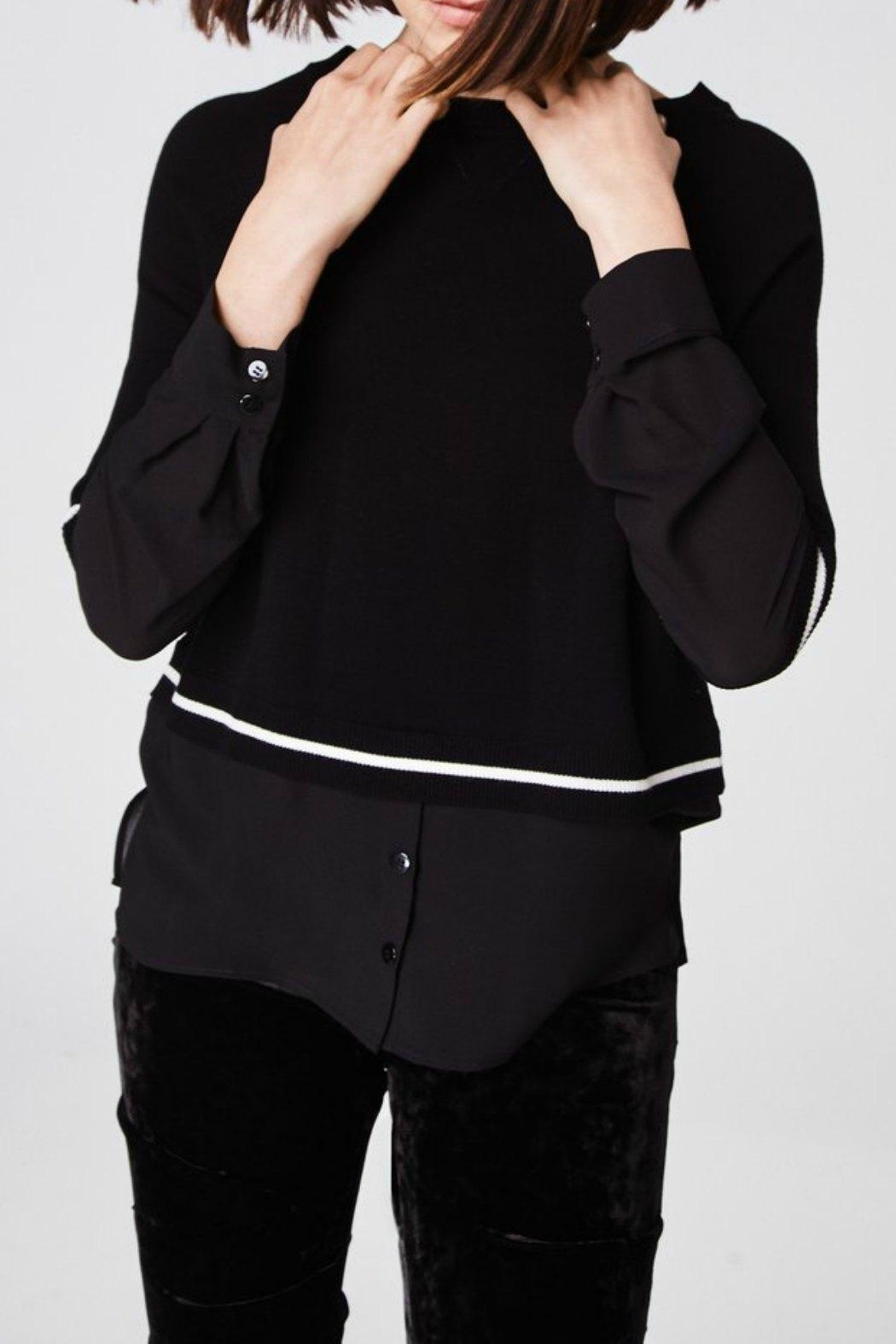 Nicole Miller Sweater Blouse Top - Back Cropped Image