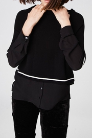 Nicole Miller Sweater Blouse Top - Back cropped