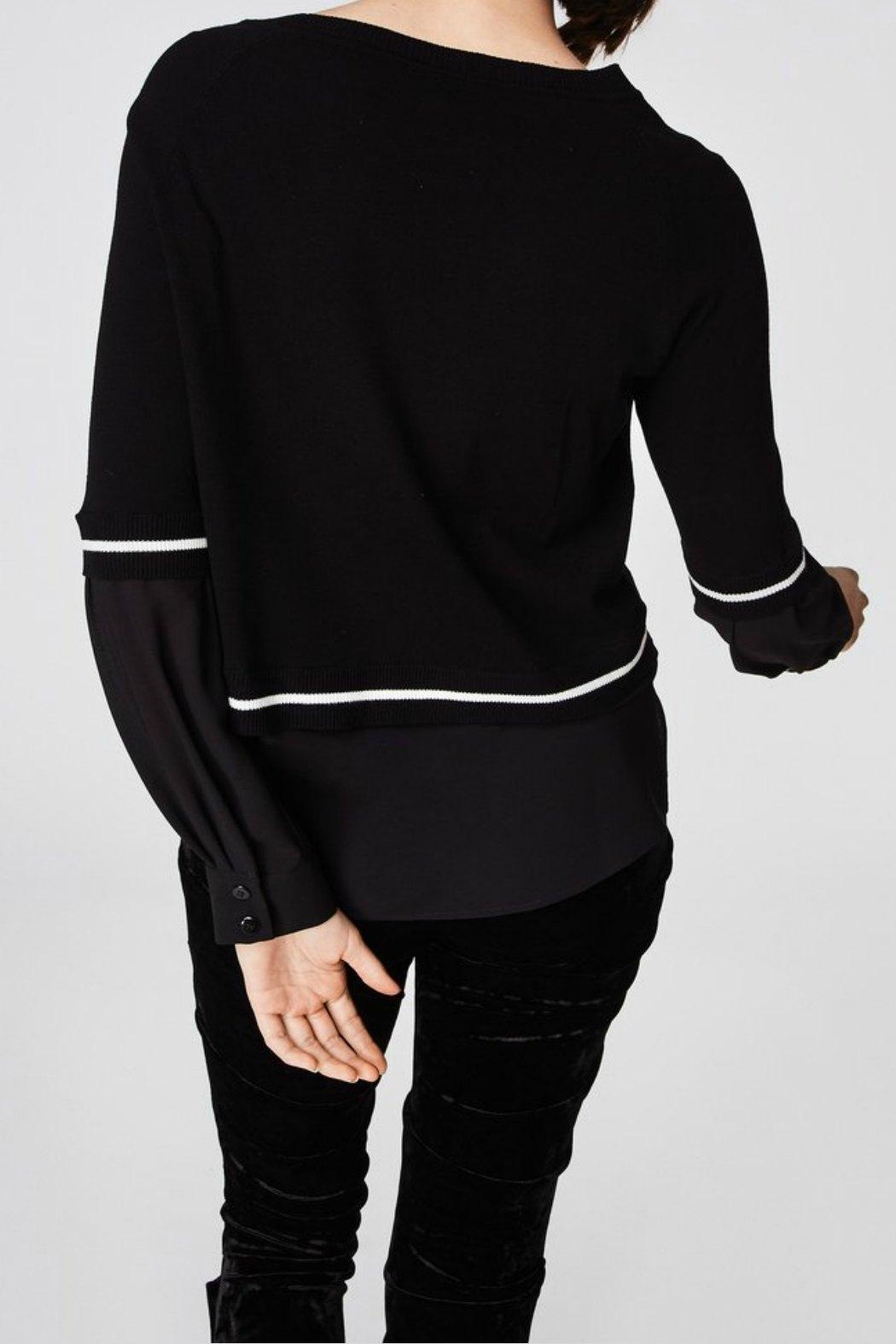 Nicole Miller Sweater Blouse Top - Side Cropped Image