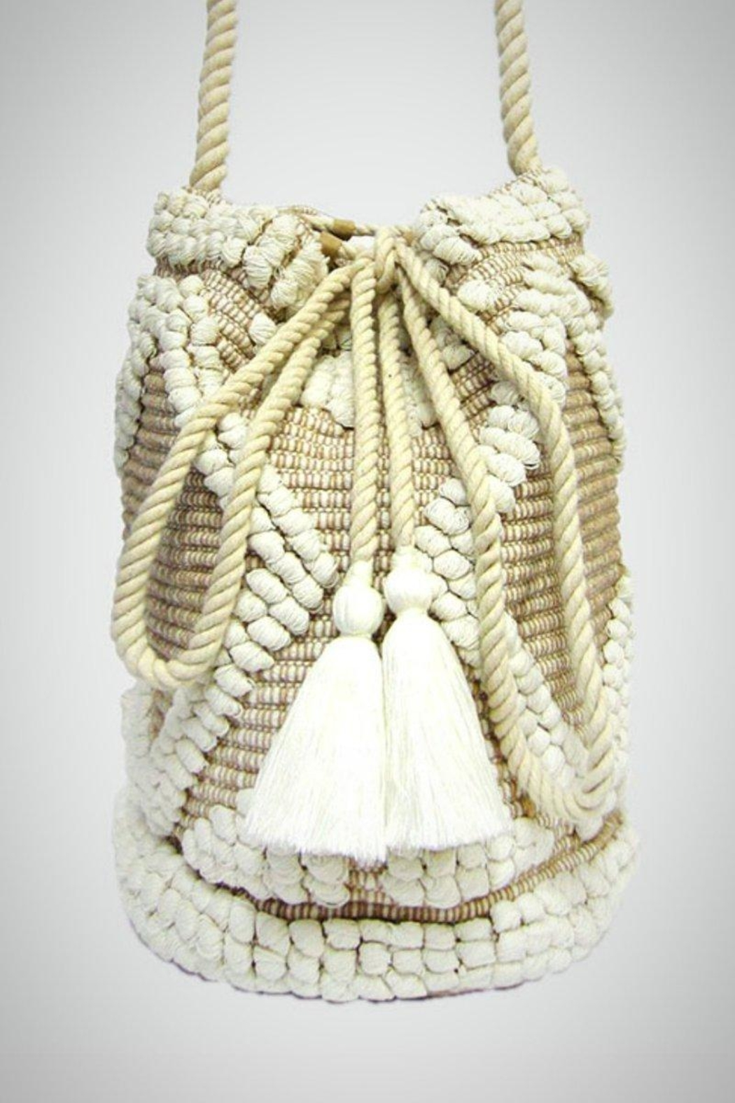 Embellish Sweater Bucket Bag - Front Cropped Image