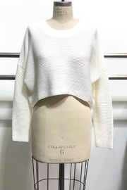 Audrey 3+1 Sweater Crop Top - Front cropped