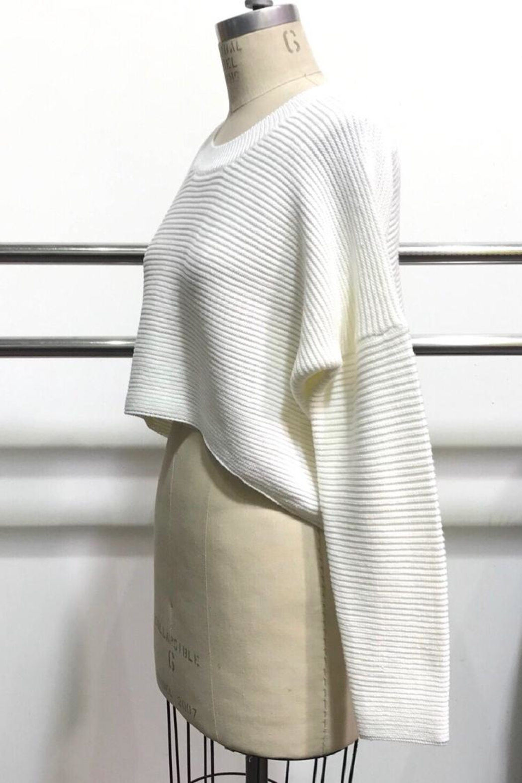 Audrey 3+1 Sweater Crop Top - Front Full Image