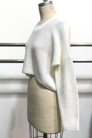 Audrey 3+1 Sweater Crop Top - Front full body