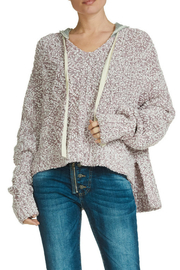 Elan Sweater deep round neck with  hood - Front cropped