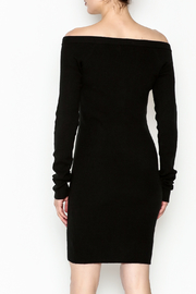 Line & Dot Sweater Dress - Back cropped