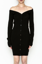 Line & Dot Sweater Dress - Front full body