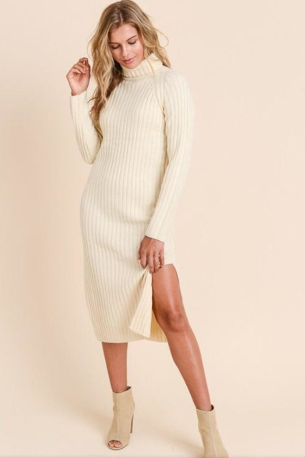 Doe & Rae Sweater Dress - Front Cropped Image